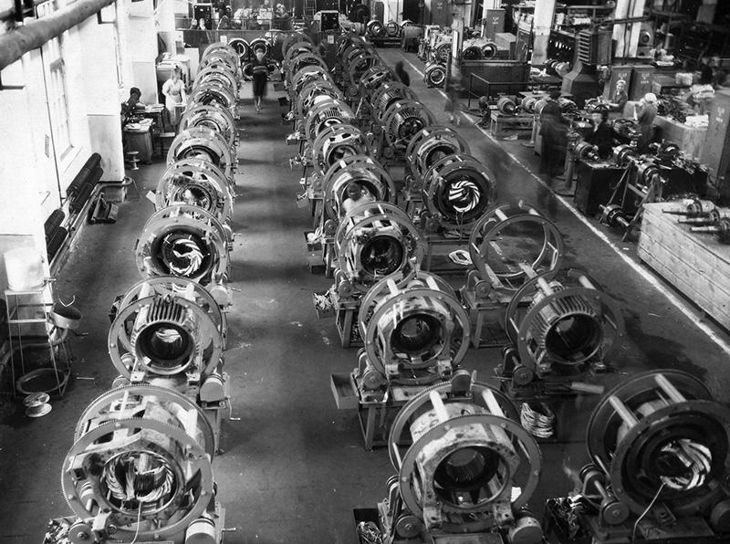 Участок намотки крупных электродвигателей